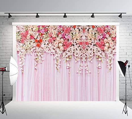 Bright 8x8ft Flowers Curtains Party Table Backdrop Photo Background For Wedding Children Fond Studio Vinyl Cloth Photography Backdrops Camera & Photo Photo Studio