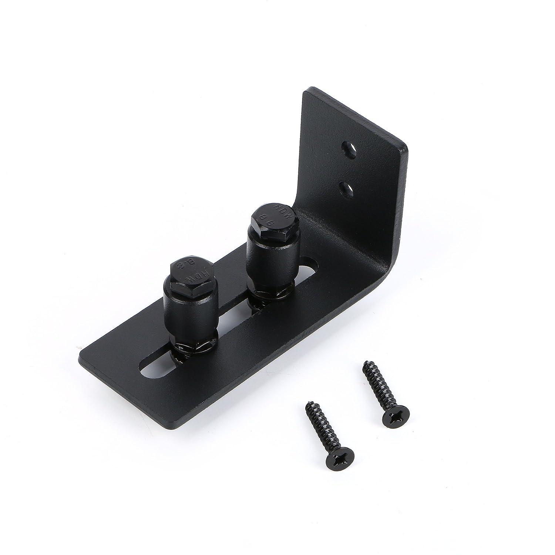 SMARTSTANDARD Sliding Barn Door Bottom Adjustable Floor Guide Roller, Black, Super Smoothly and Quietly, Easy to Install (2 Rollers)