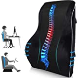 Orthopedic Memory Foam Lumbar Support Pillow for Office Chair Car Seat Pregnancy Lower Back Support with Adjustable Dual…