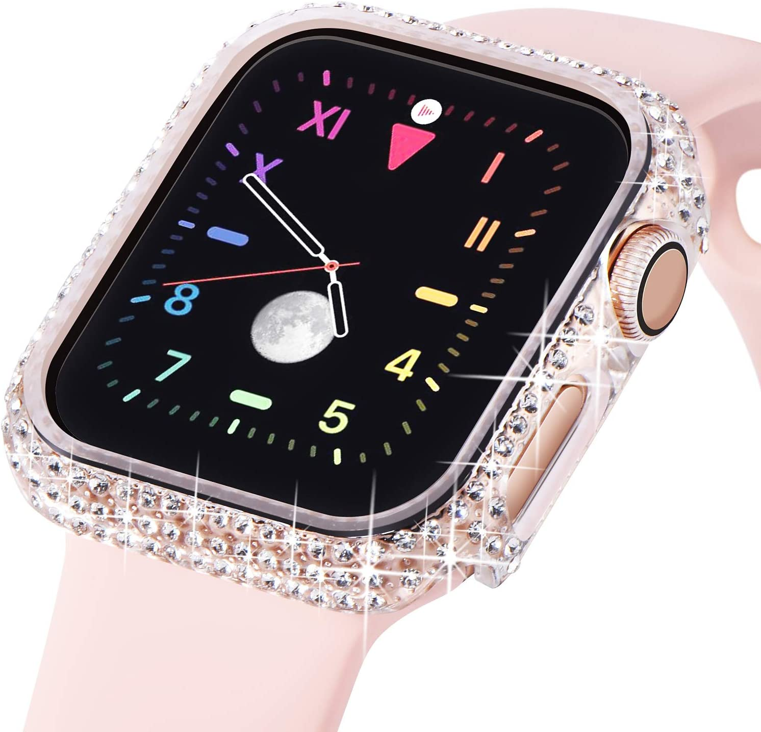 KADES Compatible for Apple Watch Case Bling 38mm 40mm 42mm 44mm, iWatch SE Bumper Series 6 5 4 3 2 1 (44mm, Clear)