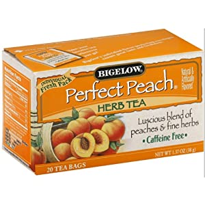 Bigelow Tea Perfect Peach 20 Bags (Pack of 4)
