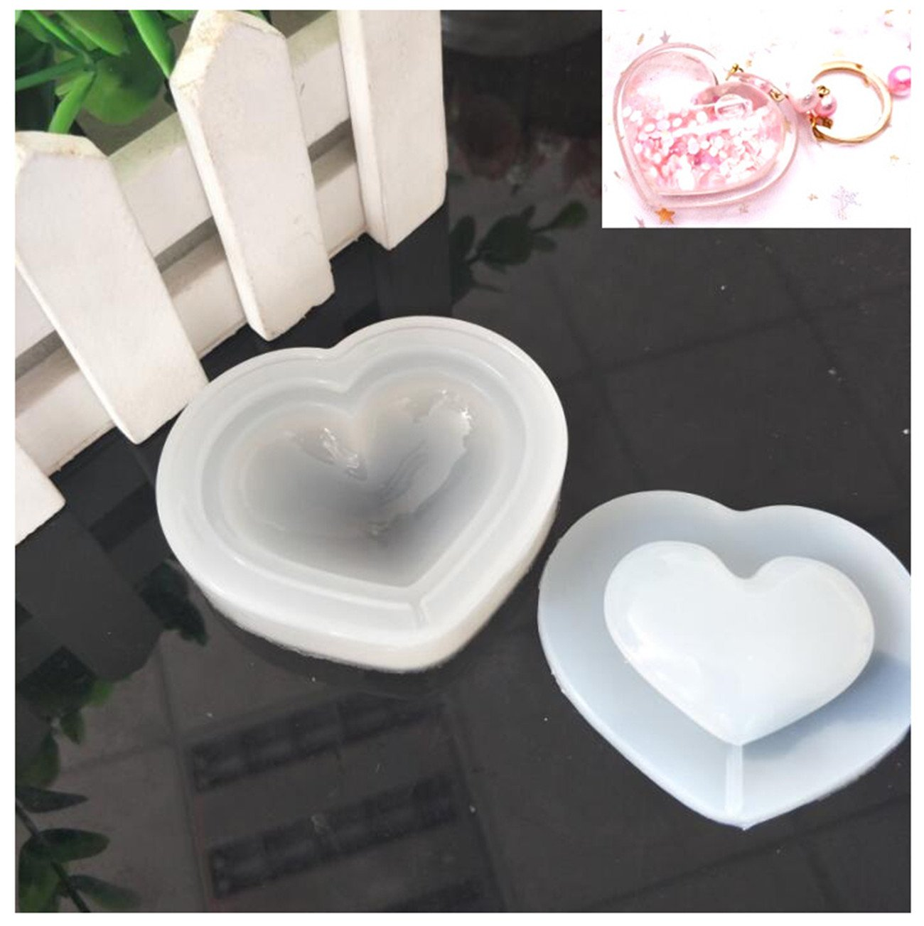 Heart DIY Jewels Mold Beading Casting Mould DIY Handmade Silicone Mould Clear Mould For Resin Crystal Lovely Gift UKPJDY-GJ-AX