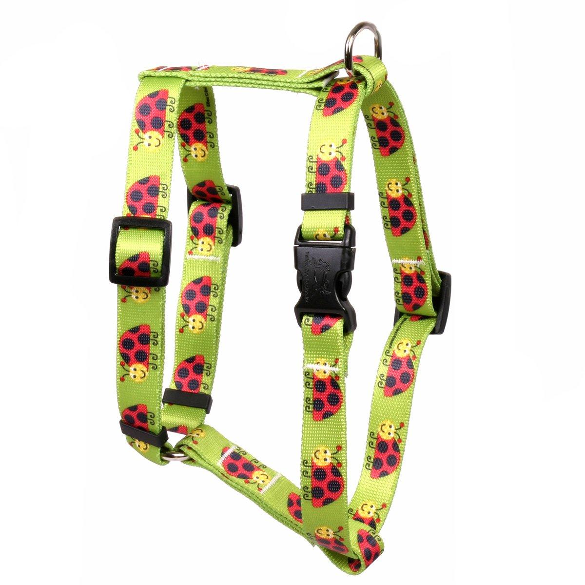 Yellow Dog Design Lovely Ladybugs Roman Style Dog Harness, Small/Medium