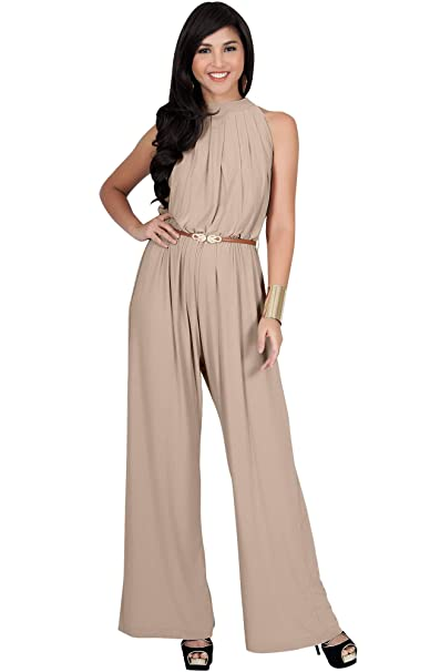 a024b128c4d Koh Koh Womens Sexy Sleeveless Wide Leg Pants Cocktail Pantsuit Jumpsuit  Romper  Amazon.ca  Clothing   Accessories