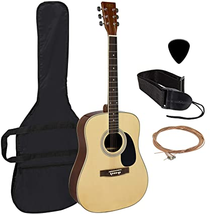 Best Choice Products In  Fret Full Size All Wood Acoustic Guitar Starter Kit