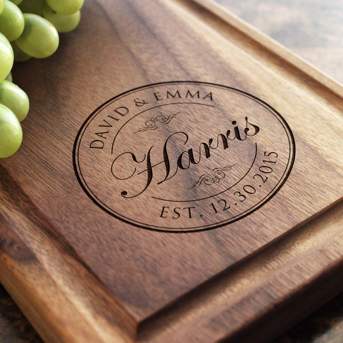 Personalized with names you Choose Wording Custom date Meant to Brie Hand Stamped Vintage Spreader or Knife Cutting Board Gift Idea
