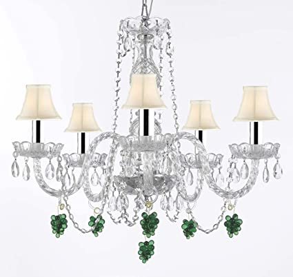 Murano venetian style empress tm crystal chandelier chandeliers murano venetian style empress tm crystal chandelier chandeliers lighting dressed with green crystal fruit aloadofball Images