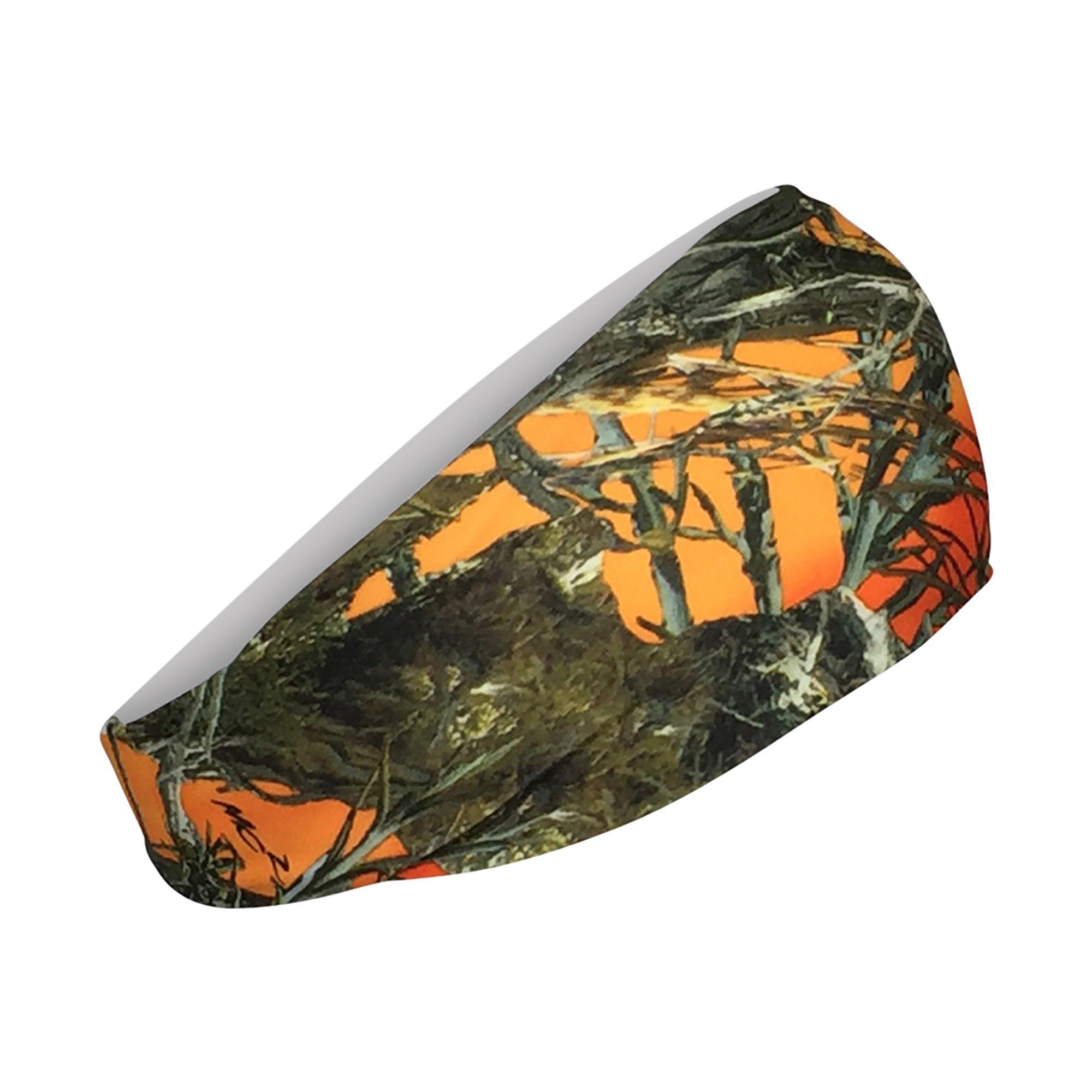 Cooling Headbands Moisture Wicking Womens Sweatband & Sports Headband | Workouts Cardio Running Yoga (Orange Camo) by Bani Bands (Image #2)