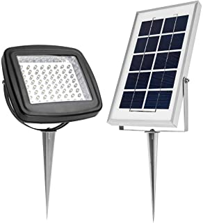 Microsolar 180 Lumen Natural White Not Bluish Solar Flood Light Automatically