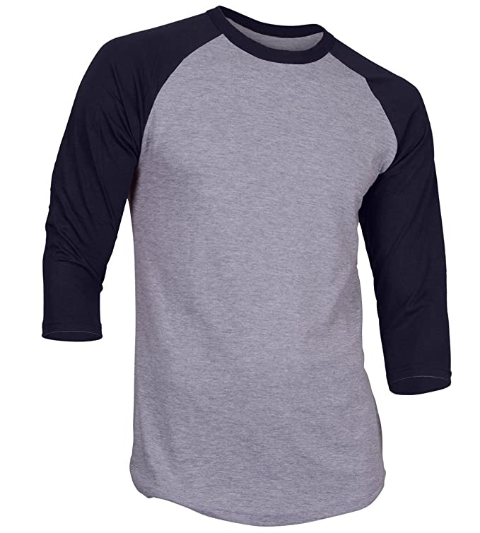8e5542b50ebe Shoptagr | Ds Men's Plain Raglan Shirt 3/4 Sleeve Athletic Baseball ...