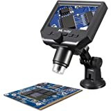 MWAY Portable Digital Microscope 3.6MP 600x Sensor Zoom LCD kit with1080P/720P/VGA Stereo Camera Vedio Microscope for QC/Industrial/Collection Inspection Multi Use Smart Microscope