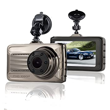 Cámara de Coche Dash Cam 1080P Full HD Grabadora Para Video Gran Angular De 170 Grados