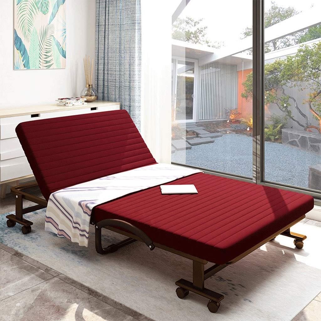 Klappbett Einzel Doppel Büro Schlafzimmer Mittagspause Nickerchen Kindermädchen Metallbett (Color : A3, Size : 80cm Wide)