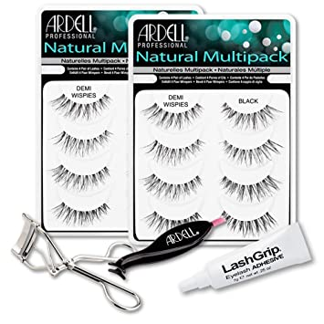 27ff34139ca Ardell Fake Eyelashes Demi Wispies Value Pack - Natural Demi Wispies  (Black, 2-