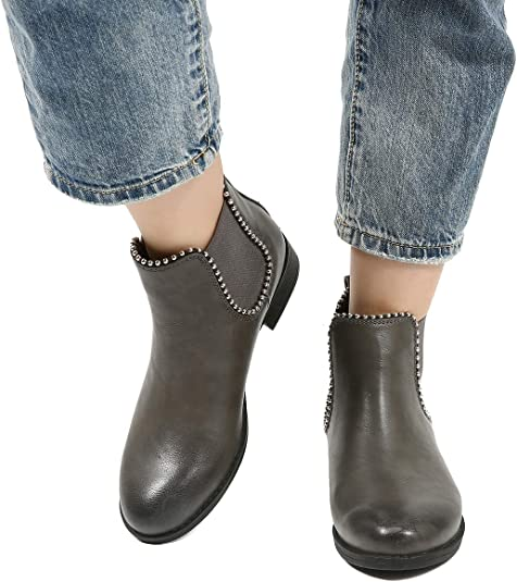 Camfosy Bottines Chelsea Femmes, Chaussures Ville Hiver en