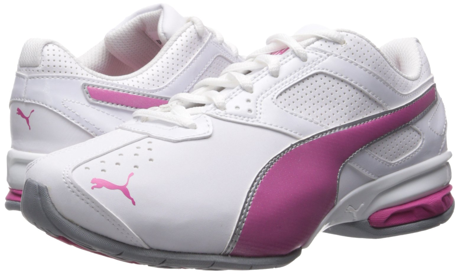 PUMA Women's Tazon 6 WN's fm Cross-Trainer Shoe, White/Fuchsia Purple Silver, 6.5 M US by PUMA (Image #6)