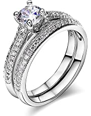 Acefeel Luxurious Serie Engagement Wedding Bands Solitaire Rings for Anniversary R280