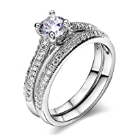 Acefeel Luxurious Serie Christmas Gift Engagement Wedding Bands Solitaire Rings for Anniversary R280