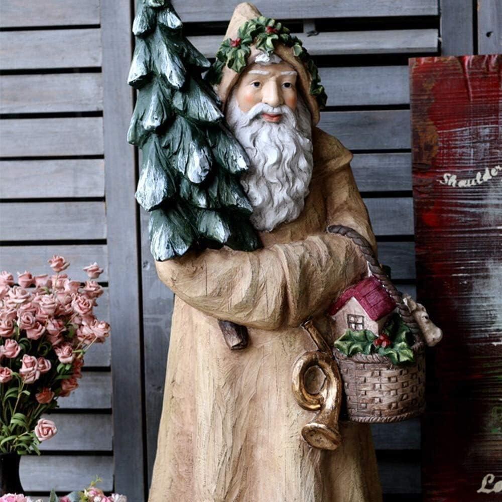 Yppss Estatua del jardín de Gran tamaño jardinería de Santa Elk Invierno Vestido de decoración hasta la decoración del jardín Patio for su jardín Eternal (Color : Santa Claus): Amazon.es: Hogar