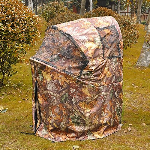 Pro Hunting Chair Ground Blind Real Tree Camo Tent One Man Hunt Turkey Deer Duck With Ebook
