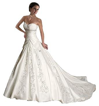 white sweetheart wedding dress