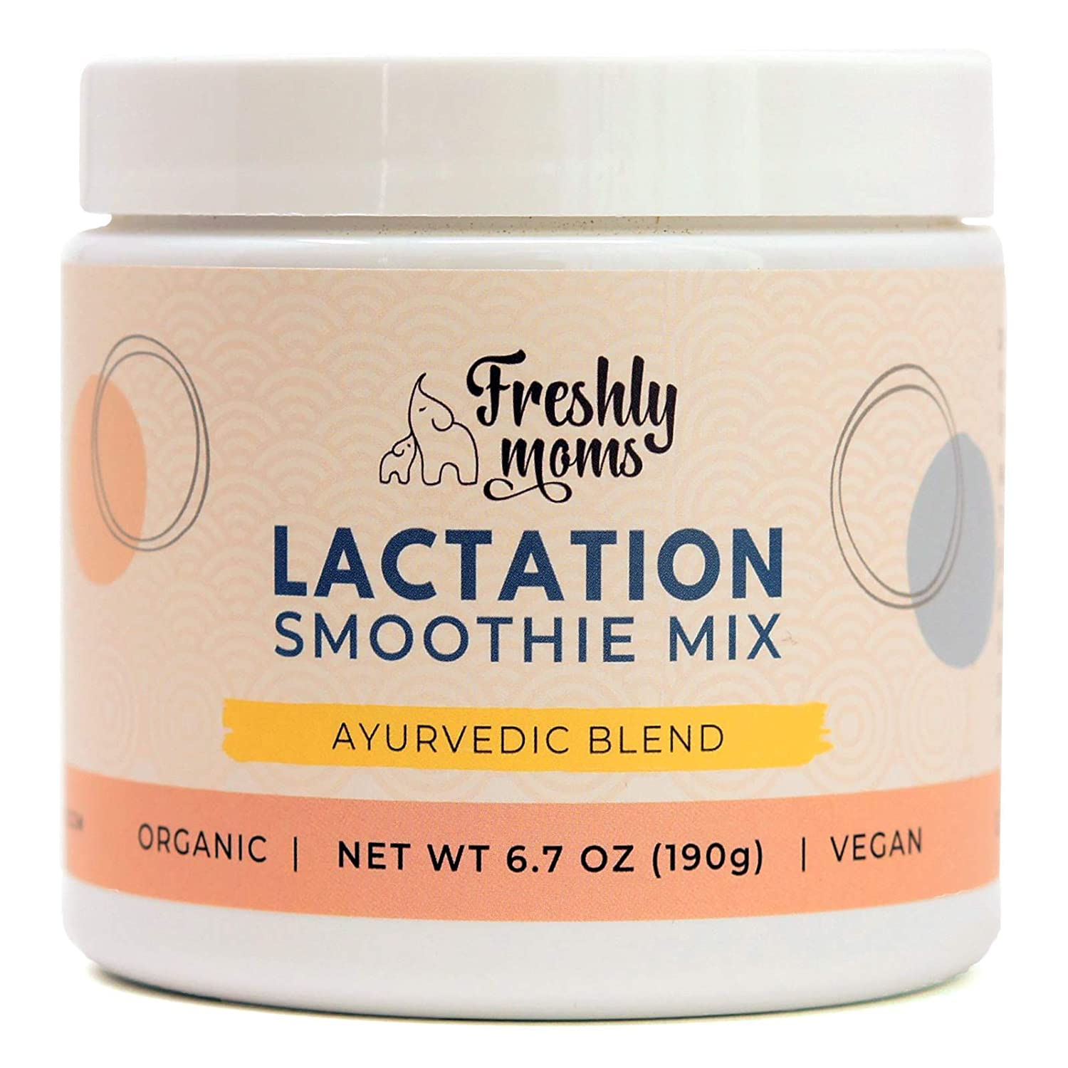 Organic Unflavored Lactation Smoothie Mix by Freshly Moms   Unsweetened, Vegan, Ayurvedic Blend, Supports Healthy Breastfeeding (Increase Milk Supply, Use in Smoothies & Recipes), 24 Servings