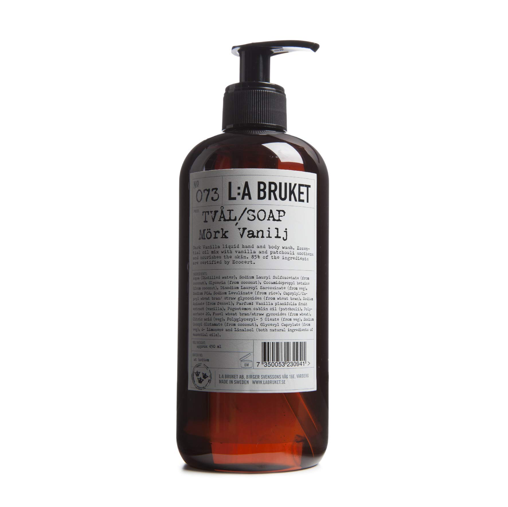 L:A Bruket No. 073 Dark Vanilla Hand & Body Wash - 450 ml