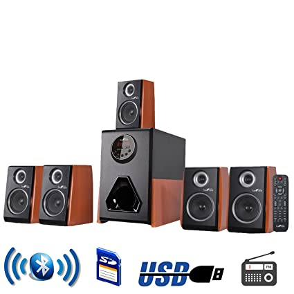 office speaker system. BeFree Sound Luxury Home And Office 5.1 Channel Surround Bluetooth Speaker System With 5 Speakers P