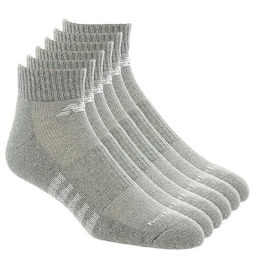 ea1e12d8757da New Balance Men's 6 Pack Core Cotton Quarter Socks, Grey, Shoe Size 9 to