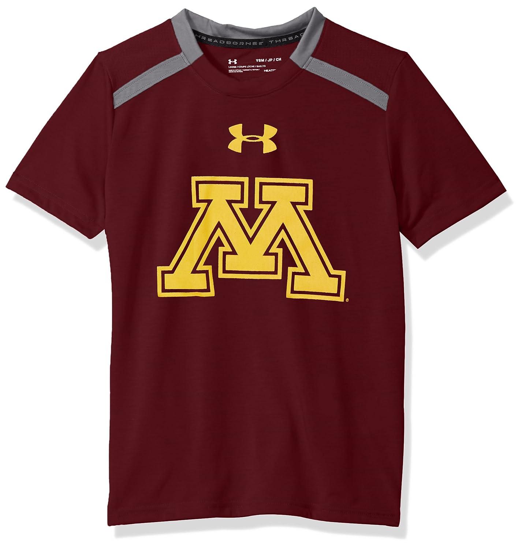 Maroon Under Armour NCAA Minnesota Golden Gophers Teen-Boys NCAA Boys Short Sleeve Vented Tee Large