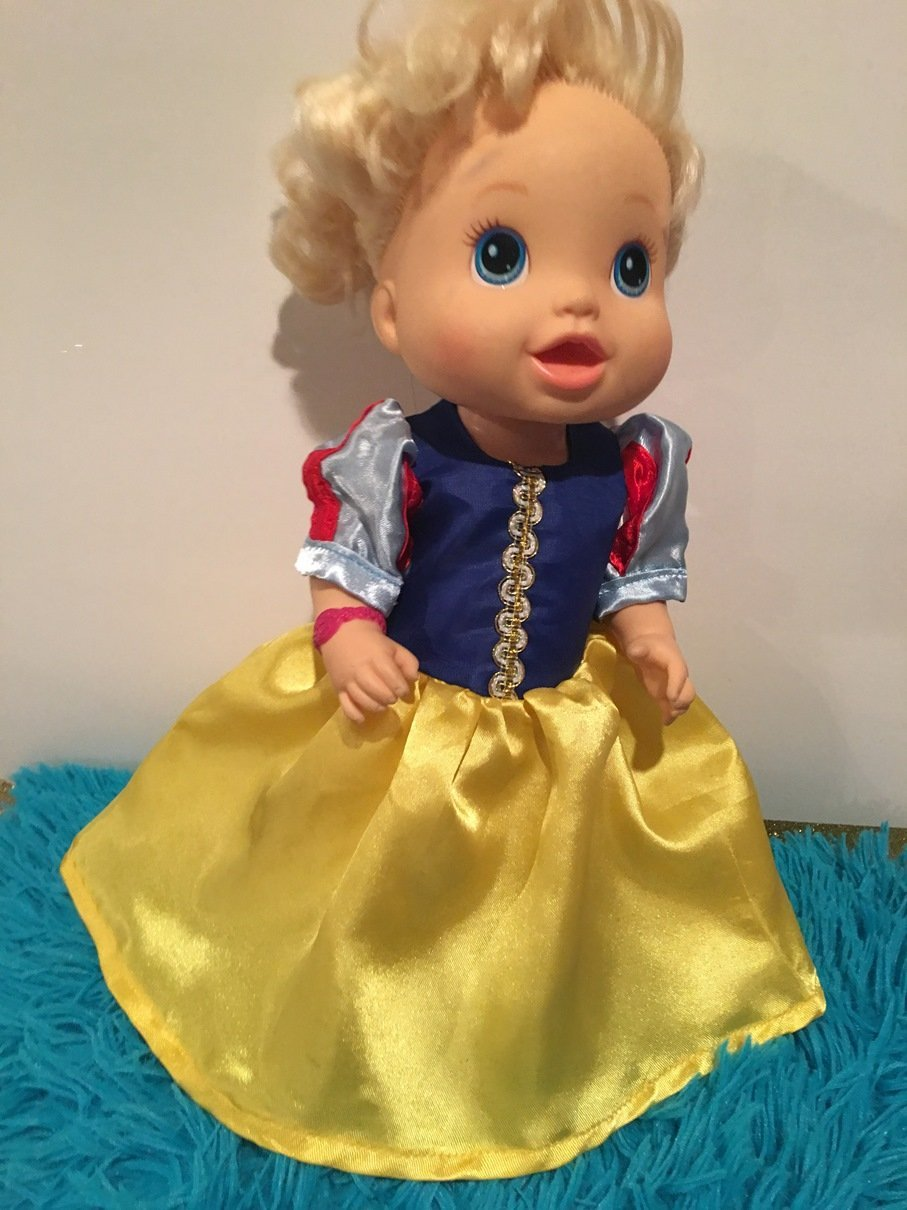 Fits 13 14 Baby Alive Doll Clothes Princess Snow White Inspired Dress Halloween Costume Handmade NO DOLL