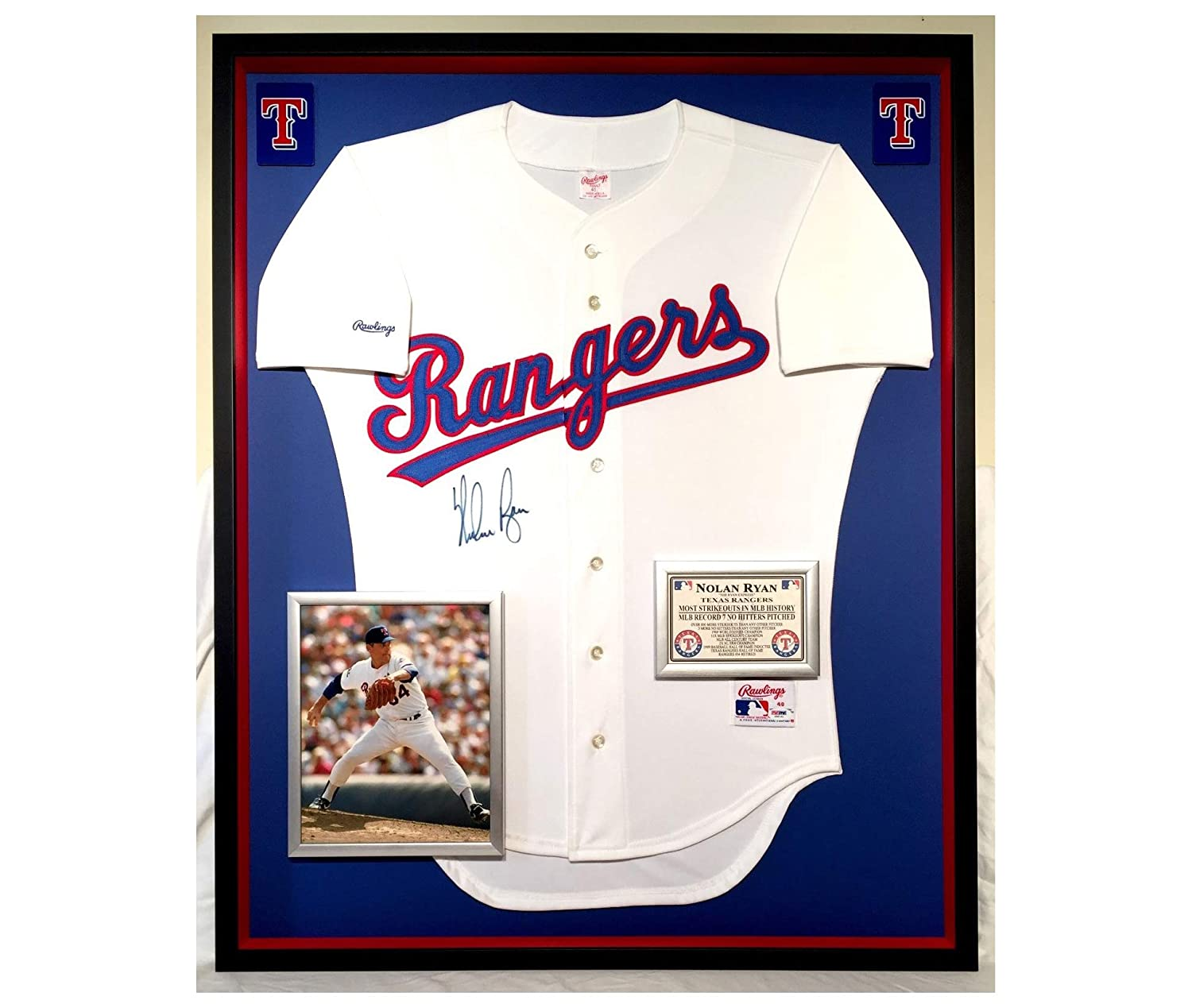 the best attitude 0386d c022b Premium Framed Nolan Ryan Autographed/Signed Texas Rangers ...