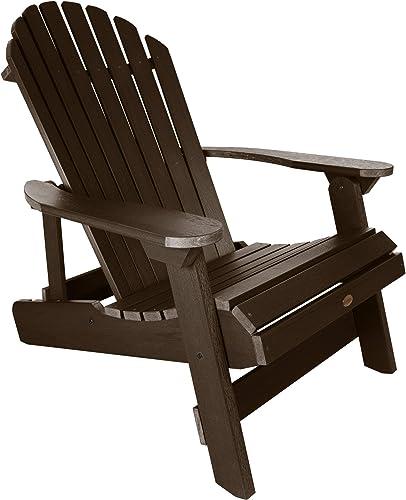 Highwood AD-KING1-ACE Hamilton Folding and Reclining Adirondack Chair, King Size, Weathered Acorn