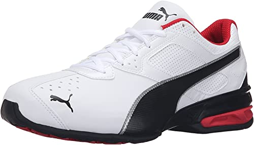 PUMA Men's Tazon 6 FM Running Shoe, WeiSchwarz (Puma White