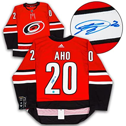 36366e3b4 Image Unavailable. Image not available for. Color  Sebastian Aho  Autographed Jersey - Adidas - Autographed NHL Jerseys