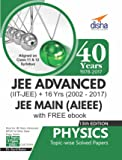 40 Years IIT-JEE Advanced + 16 yrs JEE Main Topic-wise Solved Paper Physics with Free eBook