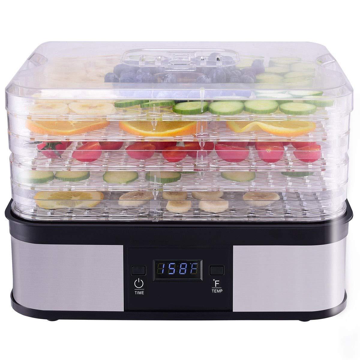 CHOOSEandBUY Timer Temperature Control 5 Tray Fruit Vegetable Dryer New Perfect Beautiful Classic Elegant Useful