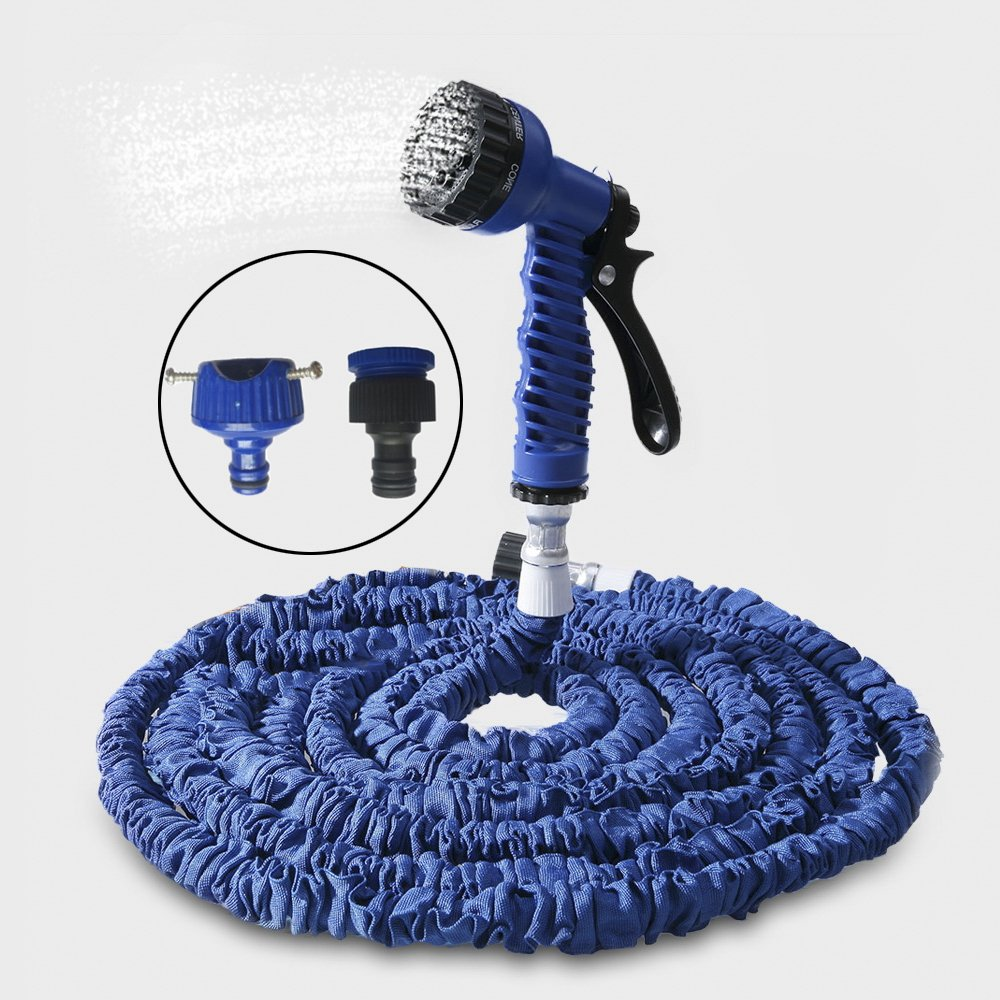 Xnferty 100FT Expandable Garden Hose, Pressure Washer Water Hose Spray Gun Car Wash Pipe with 7-way Spray Nozzle for Car Cleaning Watering Lawn Garden Plants