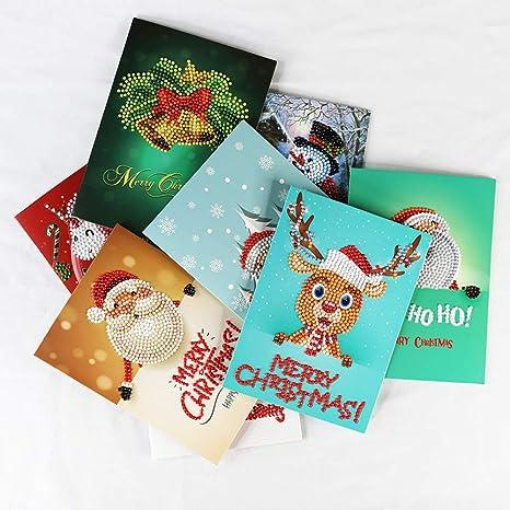 Biglietti Buon Natale Bambini.Confezione Da 8 Cartoline Di Natale Regali Per Bambini Fai Da Te