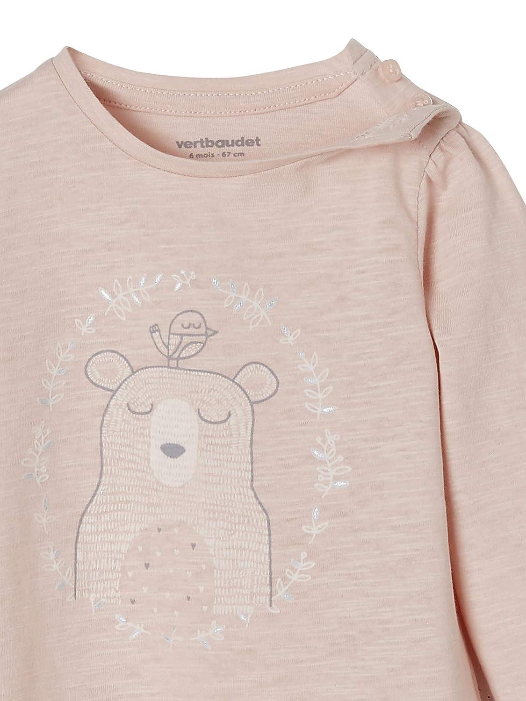 Stickerei Vertbaudet Baby M/ädchen Shirt
