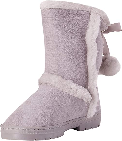 bebe Girls Fur Trimming Winter Boots