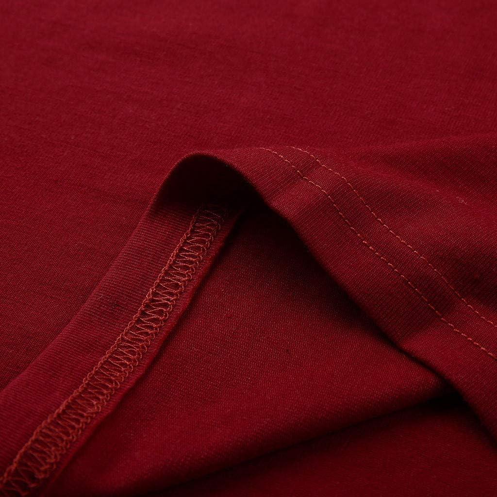 AmyGline Sommer Oberteil Damen T Shirt Top Bluse-Frauen M/ädchen Bl/ätter Druck Kurzarm T-Shirt Casual Rundhals Tank Tops Tunika Blusen Tees Sweatshirt Pullover Hemd