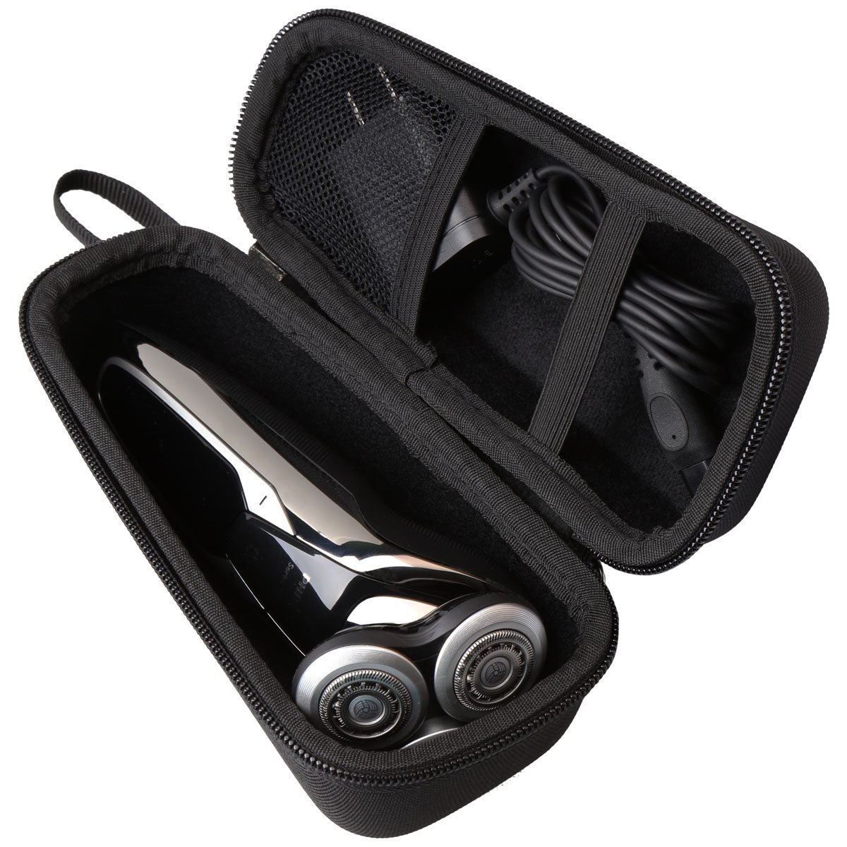 Hard Travel carrying Case for Philips Norelco Electric Shaver 9700 5570 5750 5550 S9721/89 S9721/84 S5572/90 S5660/84 S5590/81 by Aproca (black-small)