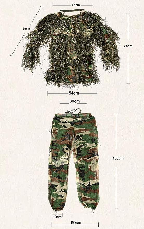 WGE Ropa Camuflaje Militar táctico Traje Ghillie Traje ...