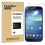 Samsung Galaxy S4 Pellicola Protettiva, iVoler Pellicola Protettiva in Vetro Temperato per Samsung Galaxy S4- Vetro con Durezza 9H, Spessore di 0,2 mm,Bordi Arrotondati da 2,5D-Shockproof, Trasparenza ad alta definizione, Facile da installare- Garanzia a vita