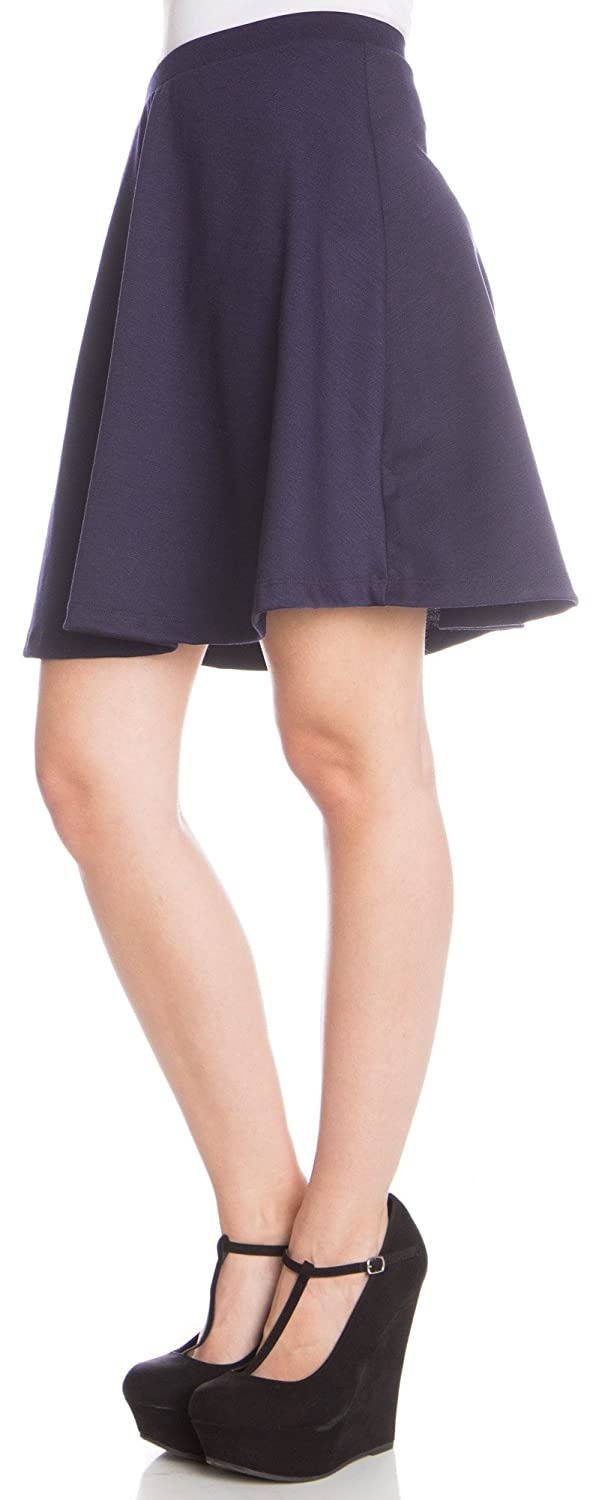 Ragstock Solid High-Waisted Skater Skirt-Ivory-SM at Amazon ...