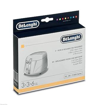Kit filtros filtro freidora de Longhi 5525101500 F8 - D8 - F1000 Series: Amazon.es: Hogar