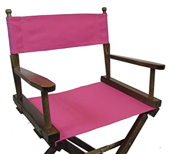 PERSONALIZED IMPRINTED Gold Medal Contemporary 24u0026quot; Counter Height  Walnut Frame Directors Chair   Pink