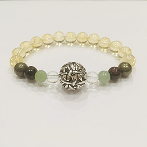 Citrine Bracelet-Garnet, Aventurine Stones for Success, Good Luck,  Creativity-Reiki Charged Jewelry