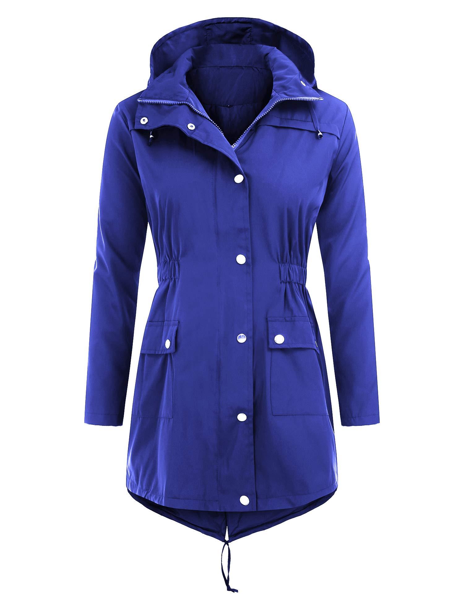 Uniboutique Raincoat Waterproof Outdoor Hooded Lightweight Rain Jacket Windbreaker by Uniboutique (Image #1)